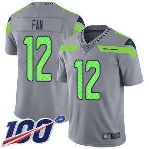 Seahawks 12 Fan 100th Season Jersey 4
